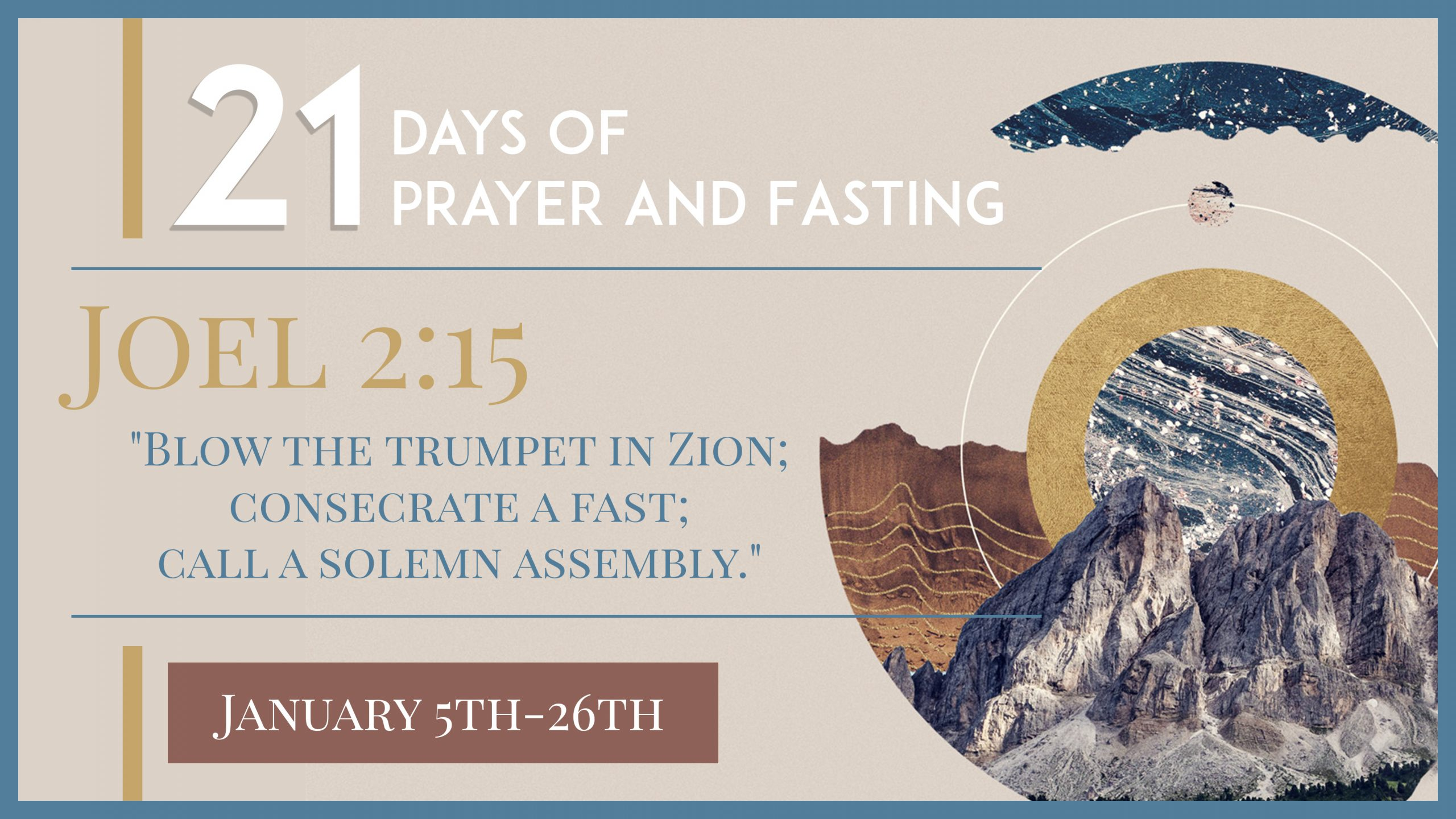Consecrate: 21 Days of Prayer and Fasting!