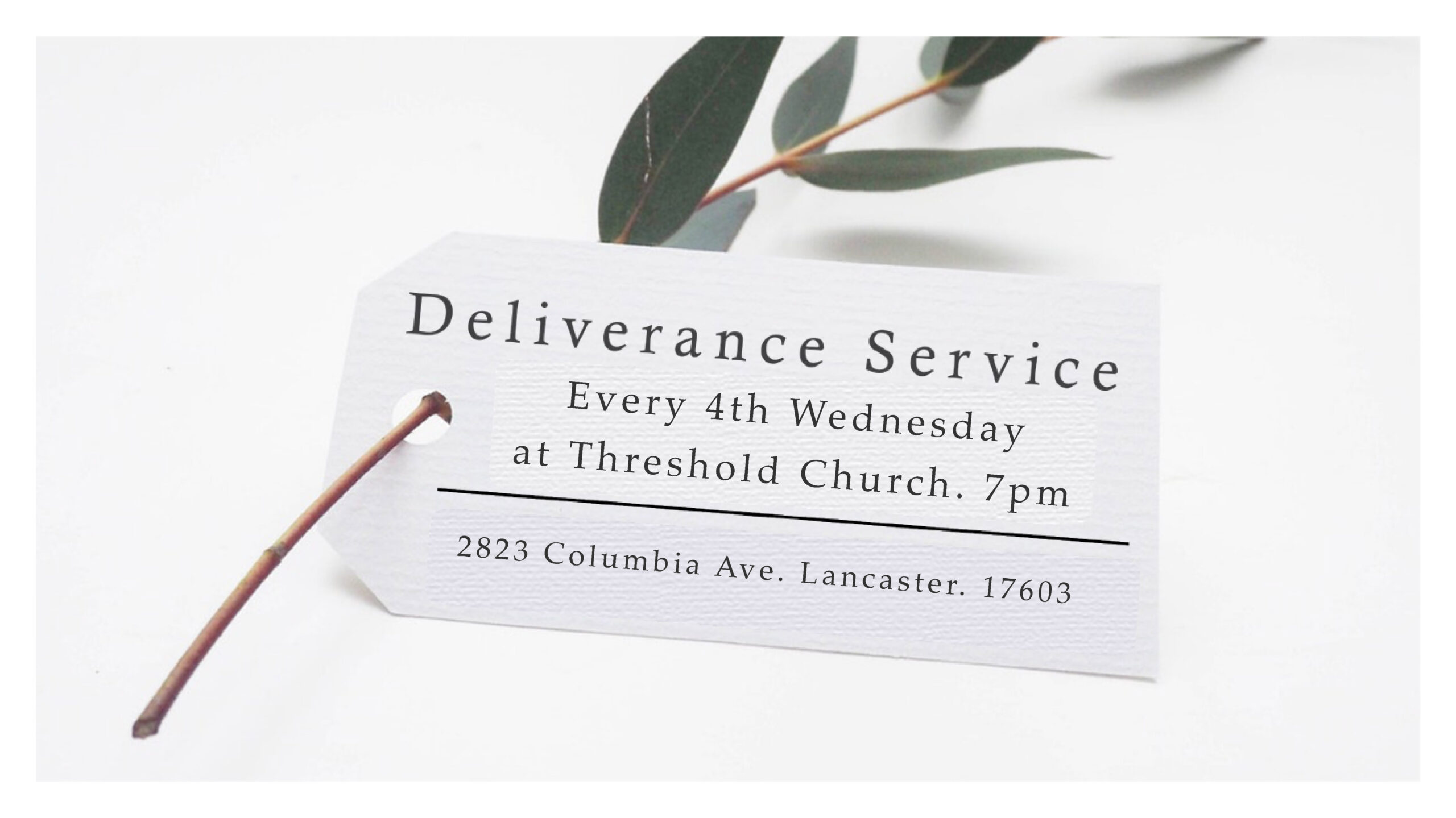Monthly Deliverance Services – Every 4th Wednesday