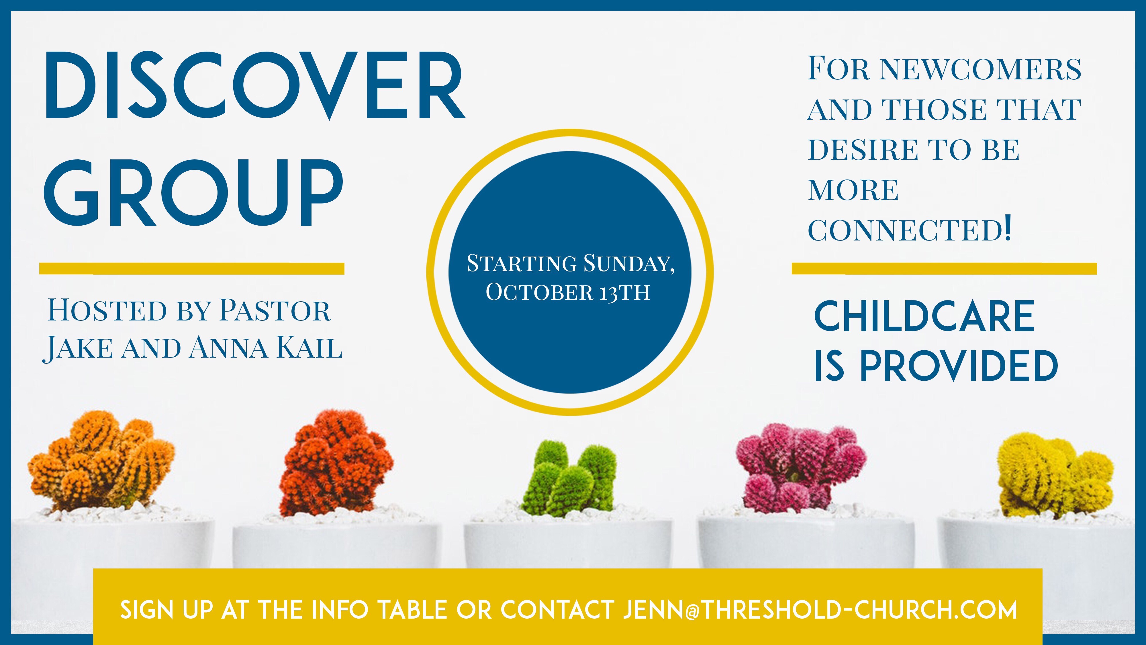 Next Discover Group Starting October 13th!