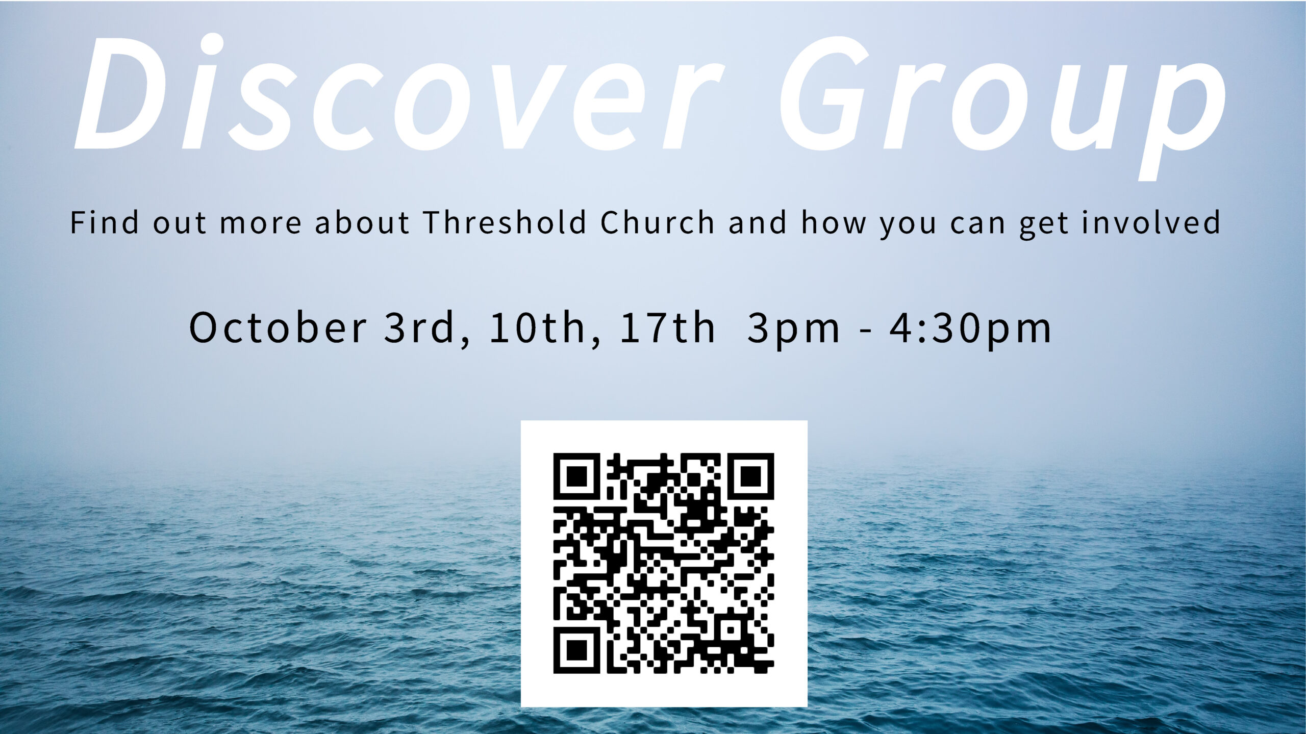 Next Discover Group Starts Sunday, October 3rd!