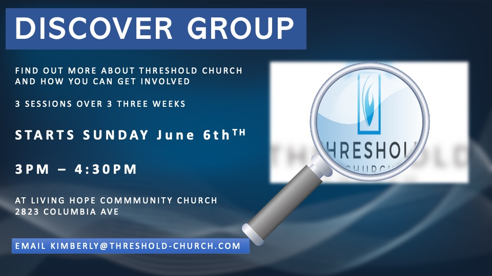 Next Discover Group Starting Sunday, June 6th!