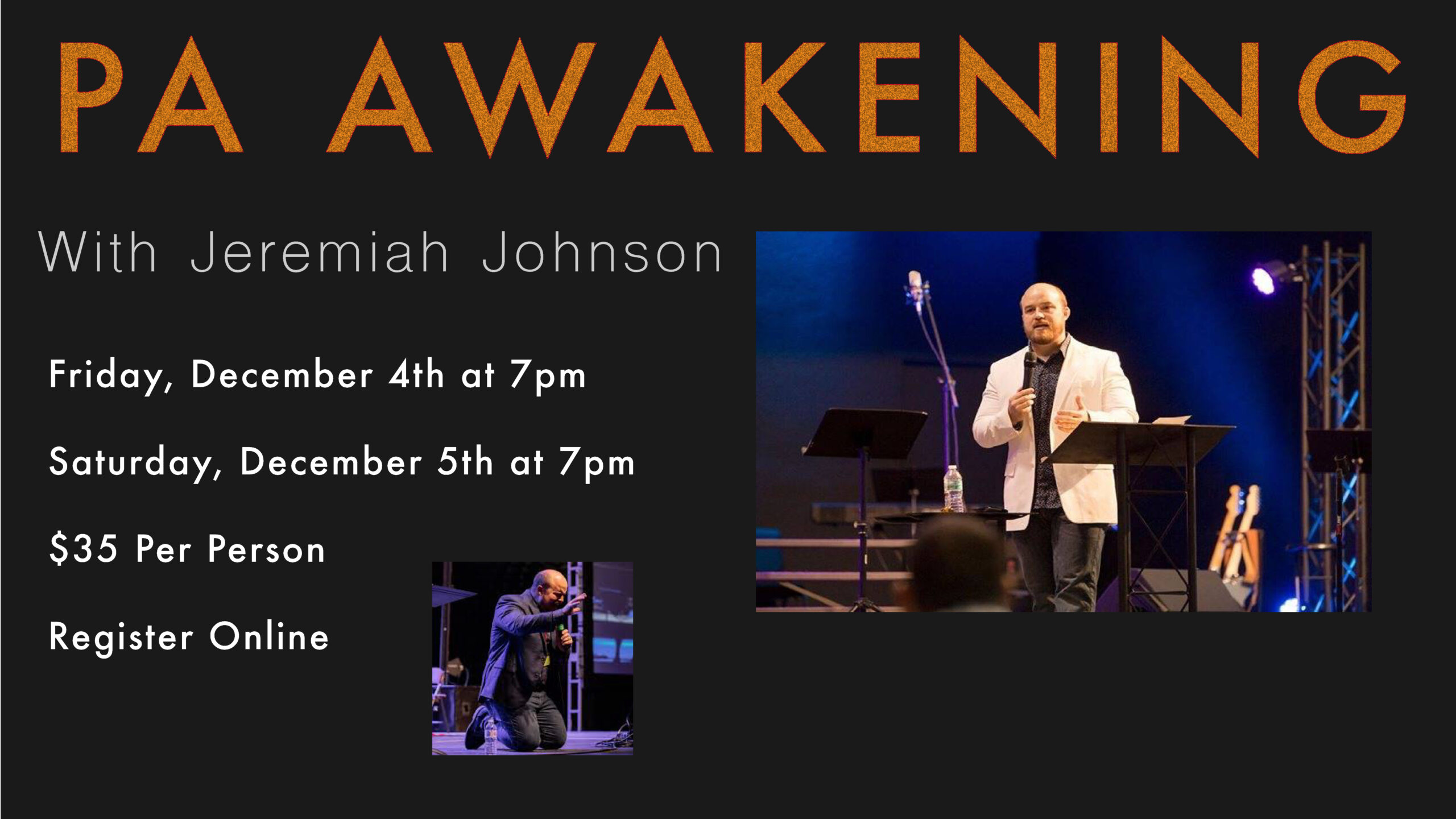Join us For the PA Prophetic Awakening with Jeremiah Johnson!