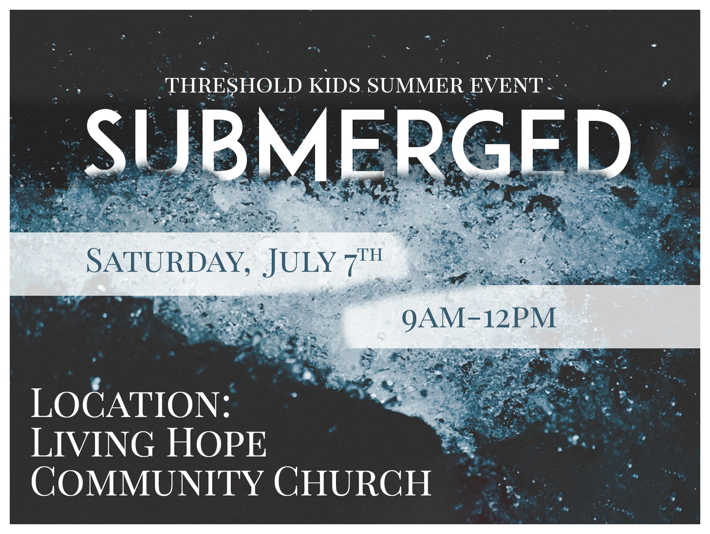 Coming Soon: SUBMERGED Summer Kids Event!