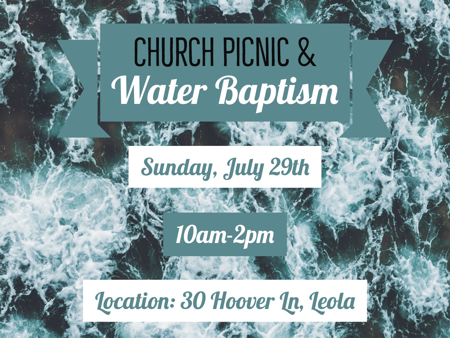 Summer Picnic and Water Baptism – July 29th
